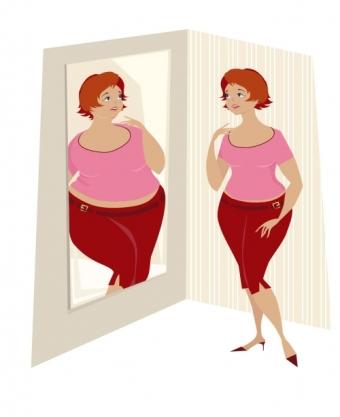 smal tjock titta i spegeln 2