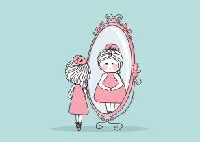 smal tjock titta i spegeln 4