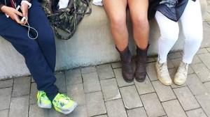 tonårstjejers ben