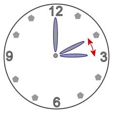 Flytta klockan en timme