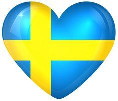 svenska flaggan som hjärta