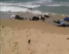 drunknade flyktingar