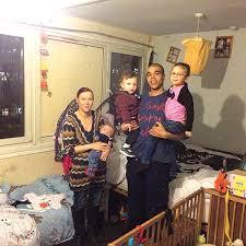 trångbodd familj