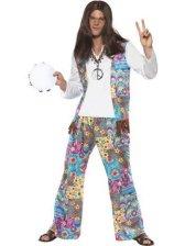 hippie-maskeraddrakt-man