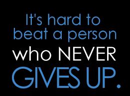 ge inte upp