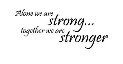 tillsammans är vi starka