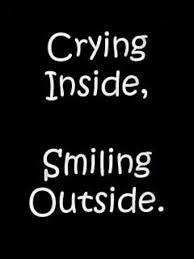 gråta inuti skratta utanpå