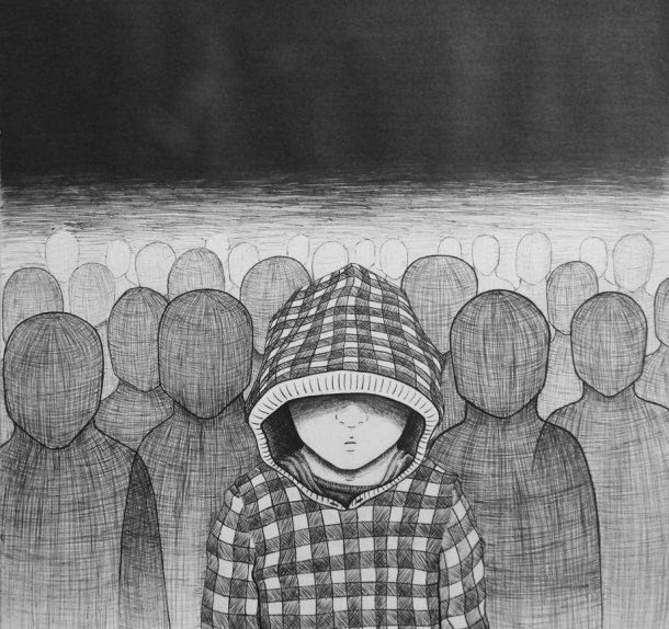 ensam och utanför