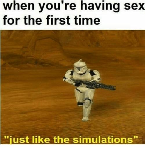 Sex för första gången 1