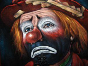 ledsen clown 2