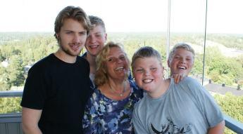 Erica med söner