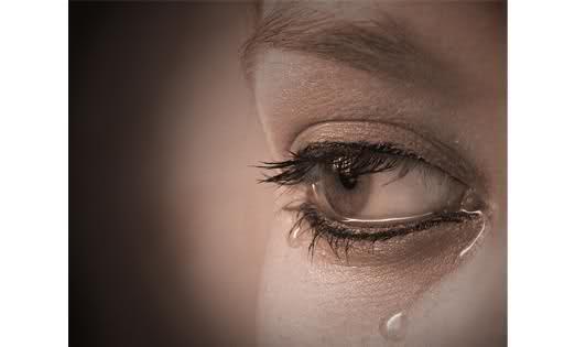 gråtande ögon