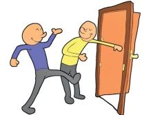 hålla upp dörren