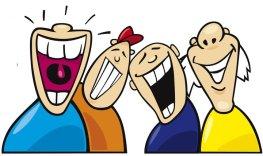 män som skrattar