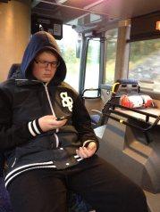 hugo i bussen