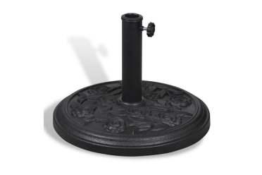 parasollfot-rund-svart