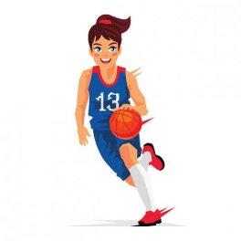 basketspelare tjej 2