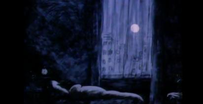 mörkt rum