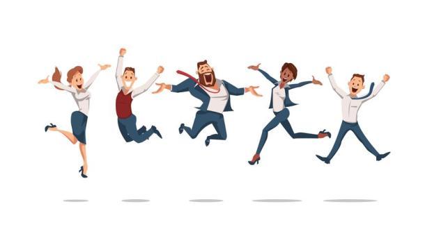 glada medarbetare