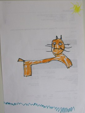 katt barnteckning 1