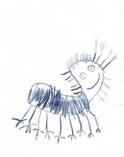 katt barnteckning 3