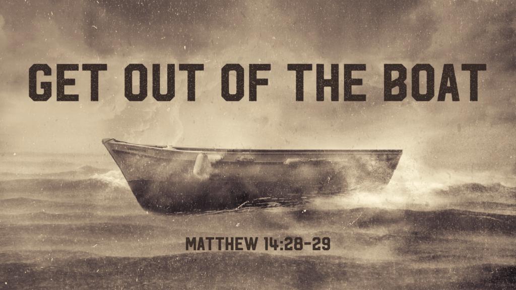 gå ur båten